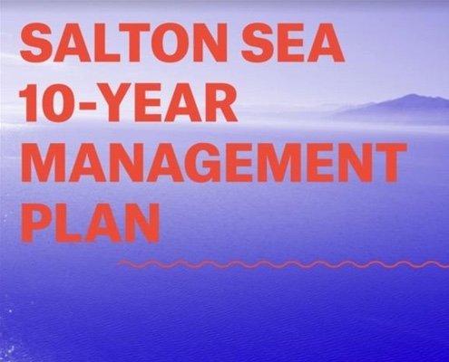 Salton Sea 10-year Management Plan